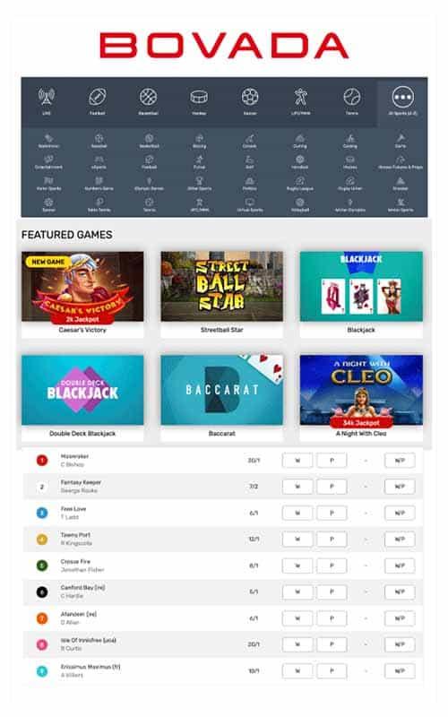 Bovada Casino Screenshot